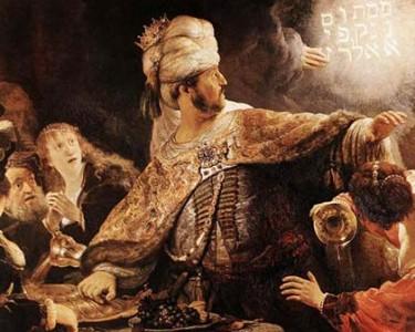 Belshazzar peint par Rembrandt, mis en musique par Handel