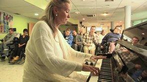 Elizabeth Sombart, piano, la musique à l'hôpital, récital, Résonnance