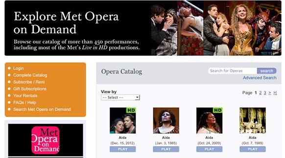 Les Archives du Metropolitan Opera disponibles sur le Net