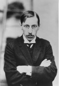 Stravinsky portrait face