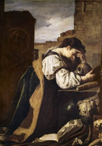 Domenico Feti, Die Melancholie - Domenico Feti / Melancholy / Painting -