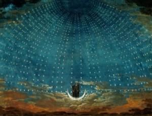 Schinkel, décor FLute enchantee mozart 1815