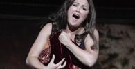 "Netrebko performs as Leonora during a dress rehearsal of Giuseppe Verdi's ""Il trovatore"" in Salzburg"