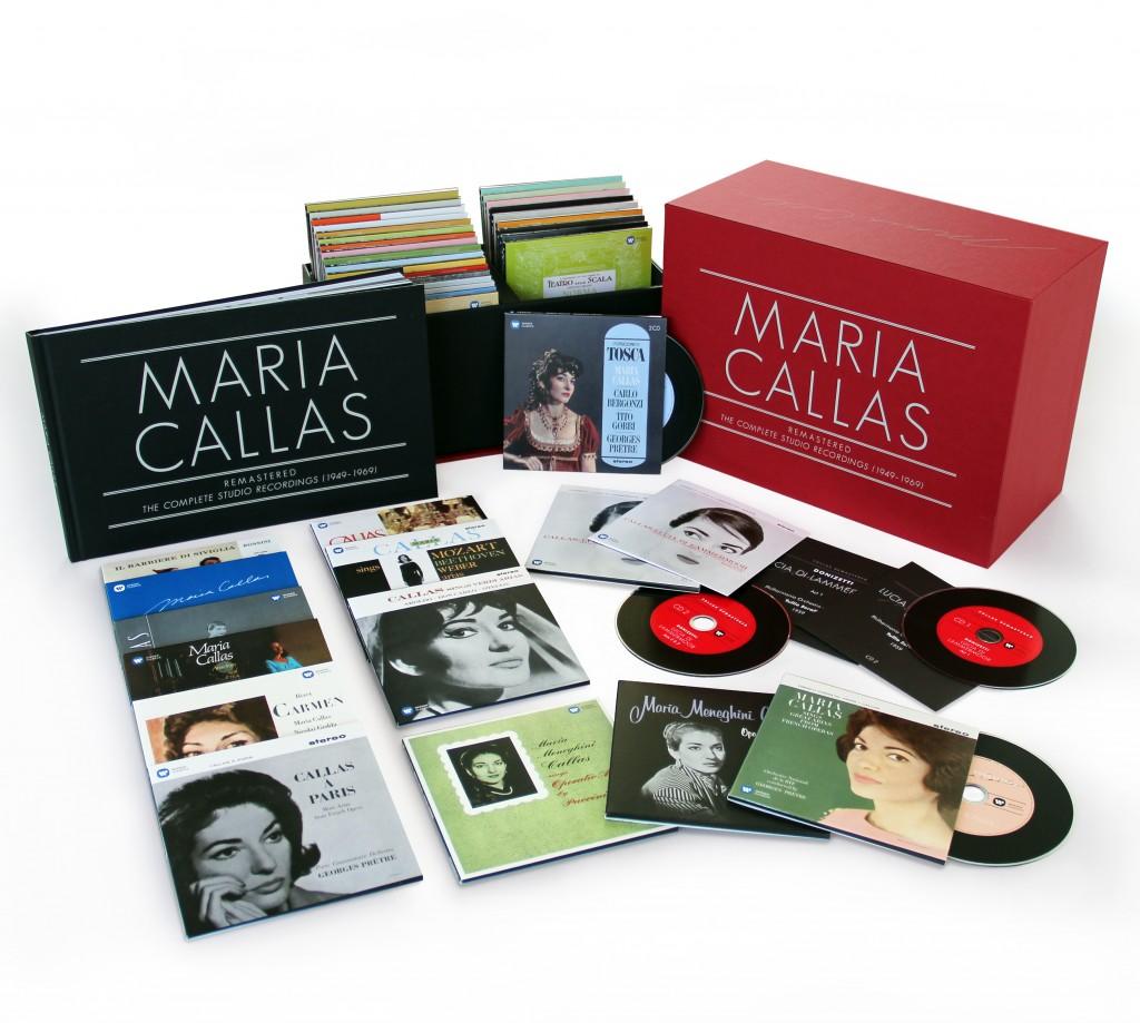 Warner classics Maria callas complete recordings remastered box coffret