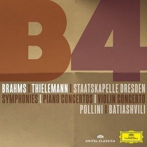 brahms thieleman deutsche grammophon 3 cd 1 dvd Pollini, Lisa Batiashvili christian Thielemann Conertos Symphonies Ouverture tragique deutsche grammophon cd