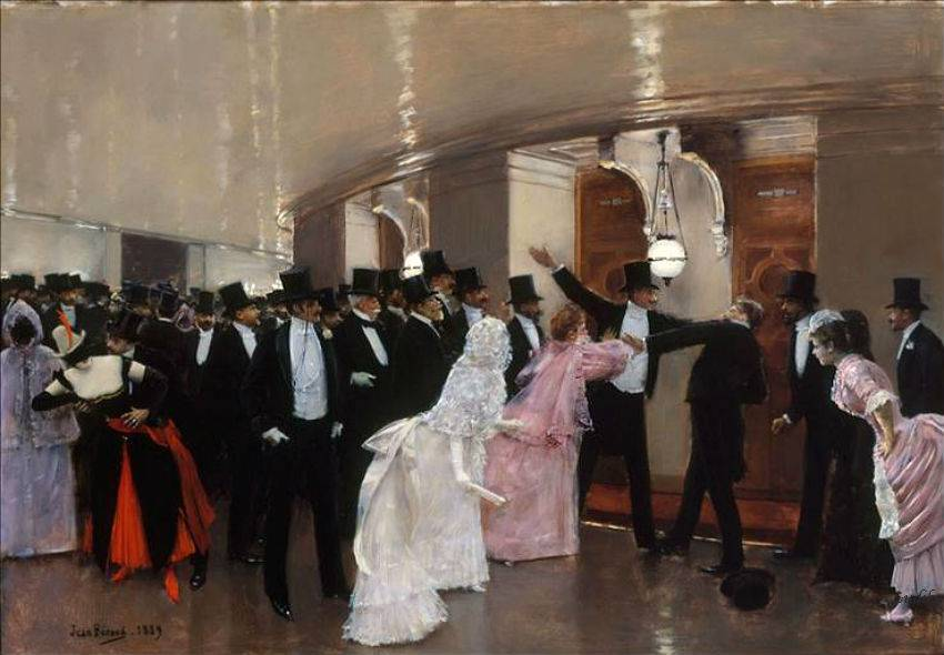 Jean-Beraud-An-Argument-in-the-Corridors-of-the-Opera-1889
