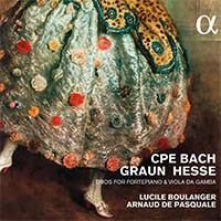 ALPHA202 graun carl philipp emanuel bach boulanger de pasquale & cd alpha reviex account of compte rendu critique cd CPE BACH sonata, sinfonie, trio