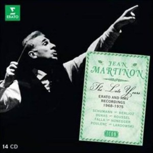 Martinon jean erato the late years 1968 - 1975 Dukas, ROussel, Pierne, Berlioz Poulenc
