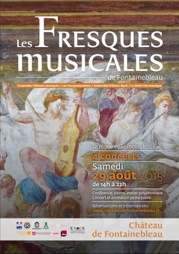 fontainebleau fresques musiclaes presentation review compte rendu critique classiquenews 2015 Affiche-Fresques-musicales-362x513