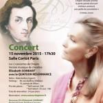 resonnance elizabeth sombart concert frederic Chopin novembre 2015