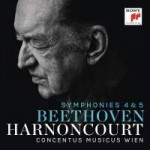 beethoven symphonies 4, 5 nikolaus harnoncourt cd sony review compte rendu CLASSIQUENEWS critique CLIC de classiquenews