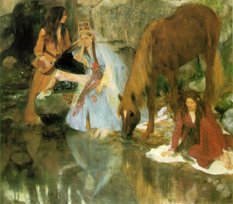 delibes degas 1868 Mlle-Fiocre-in-the-Ballet-The-Source-Edgar-Degas-1867-68