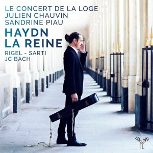 Le concert de la loge julien chauvin haydn la reine RIgel Sarti JC Bach cd review, cd critique compte rendu critique cd classiquenews