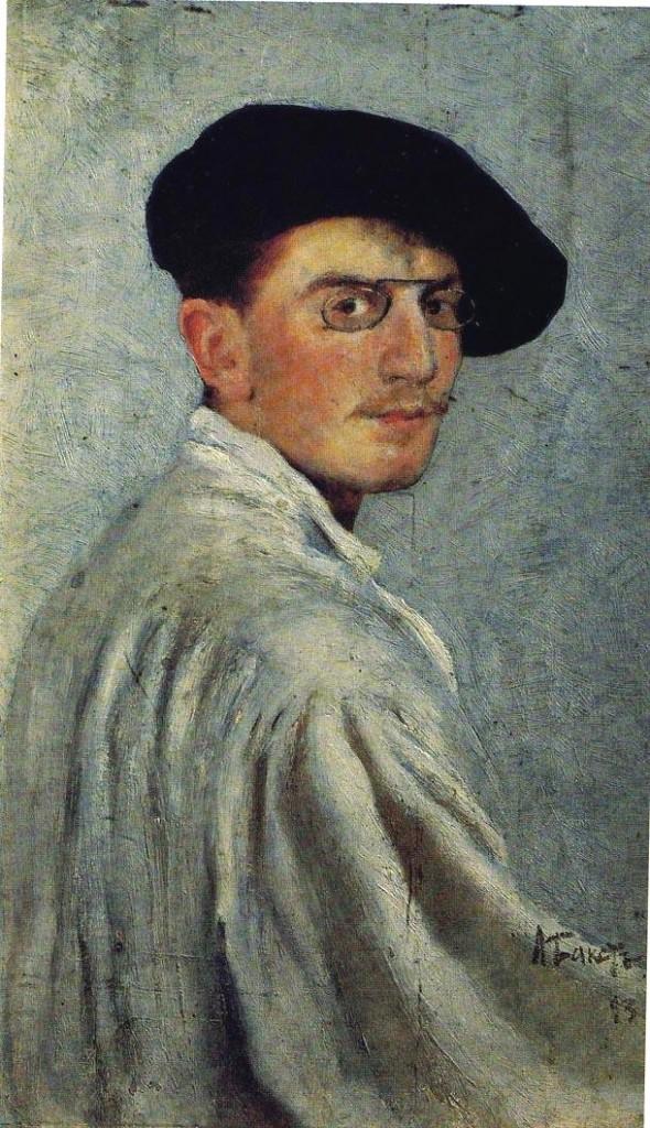 Bakst leon autoportrait 1893 classiquenews