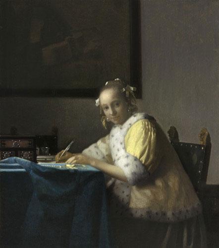 la-lettre-interrompue vermeer classiquenews