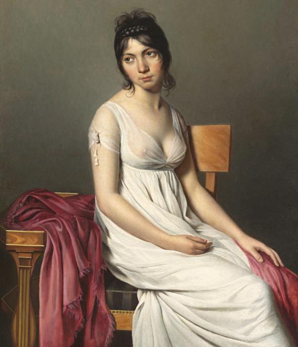 david-portrait-jeune-femme-1798-classiquenews-mode-neo-grecque-neo-classiquenews