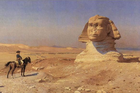 egypte-le-sphinx-et-le-cavalier-par-gerome-la-campagne-d-egypte-classiquenews-582