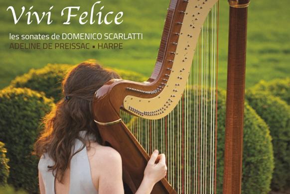Adeline de Preissac : Scarlatti à la harpe