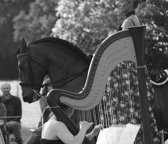 preissac-adeline-de-harpe-scarlatti-cheval-NB-par-classiquenews