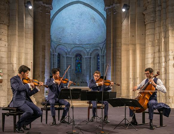 saintes-2017-par-classiquenews-Quatuor-Arod-2©Michel-Garnier