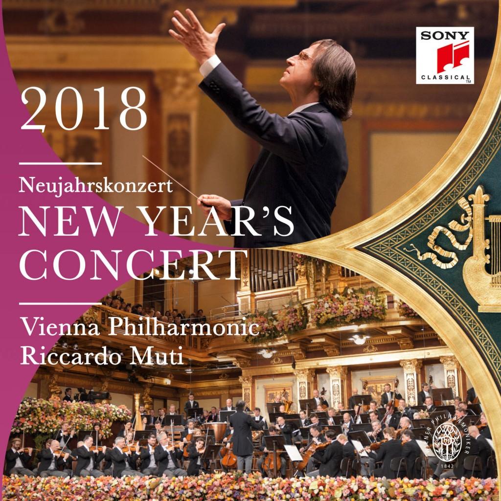 CD nouvel an vienna Philharmonic Riccardo muti presentation critique annonce review sur classiquenews Couv Concert du Nouvel An 2018