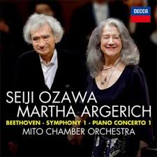 Ozawa argerich beethoven decca beethoven mito chamber orchestra cd decca presentation review cd critique cd par classiquenews