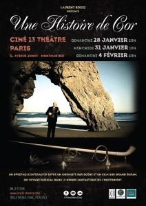 thumbnail_AfficheParis-UNE HISTOIRE DE COR laurent rossi concert paris 28-31 jan & 4 fev