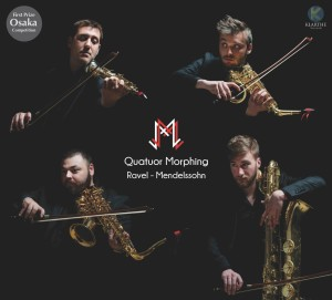 MORPHING quatuor saxophones RAVEL mendelssohn cd klarthe review cd critique cd CLIC DE CLASSIQUENEWS de fevrier 2018 kla045couv_low