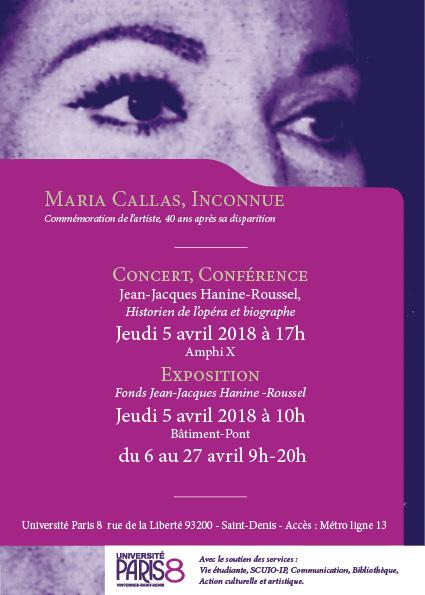expo callas inconnue paris 8 saint denis presentation classiquenews