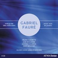 faure integrale melodies marc boucher olivier godin pour ATMA classique 4 cd par classiquenews la critique du cd