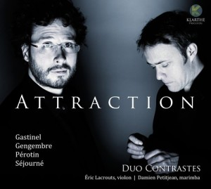 duo contrastes attraction gastinel gengembre violon marimba cd klarthe critique cd review cd classiquenews la critique cd par classiquenews 3149028066326