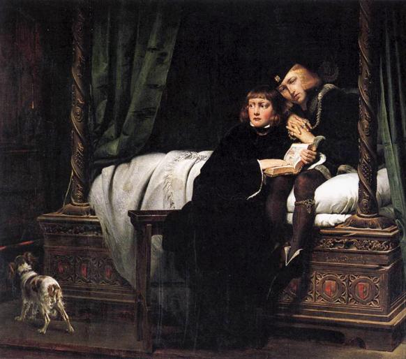 Paul_Delaroche_-_enfant-edouard-dans-la-tour-1830-annonce-opera-huguenots-par-classiquenews