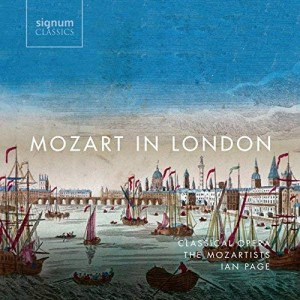 MOZART in london ian page cd review critique cd par classiquenews