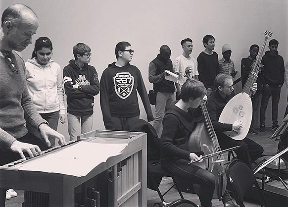 CHD MARCO POLO FE COMTE atelier percu orchestre avec le chef Noir et blanc concert annonce reportage classiquenews fev 2019