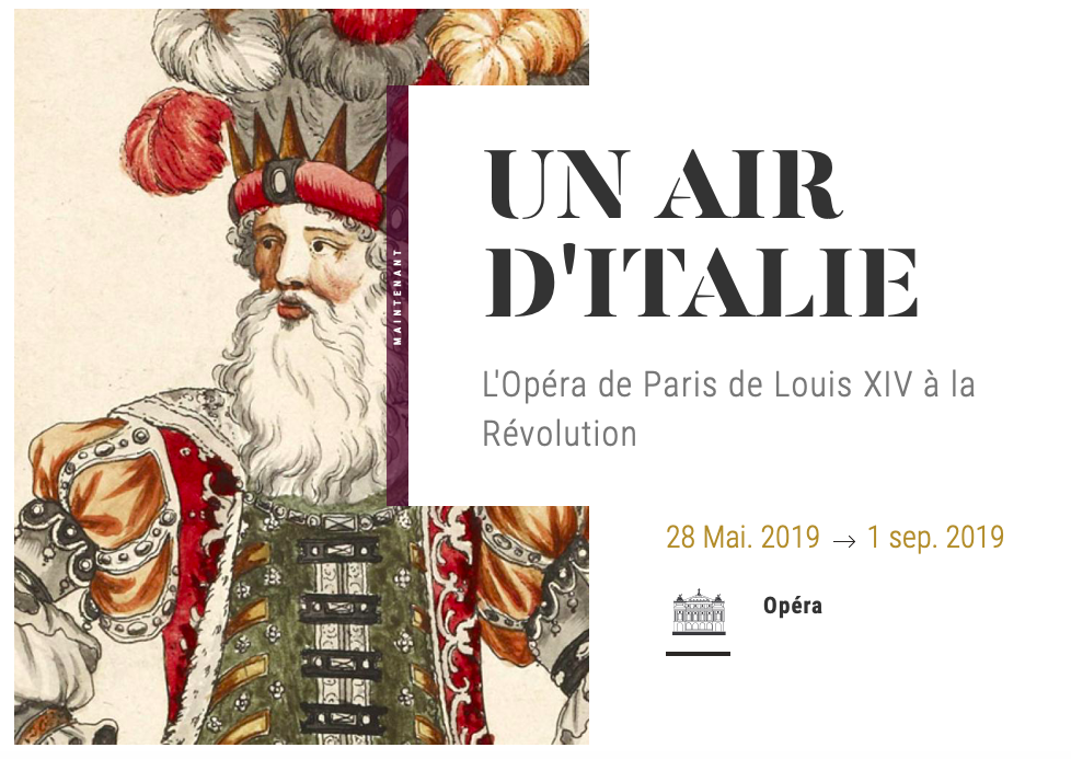 un air d italie opea de paris de louis XIV a la revolution catalogue exposition critique annonce classiquenews mai septembre 2019 palais garnier