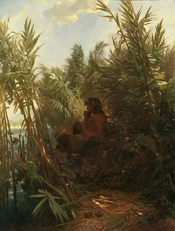 MAHLER-GUSTAV-SYMPH-7-annonce-concert-critique-classiquenews-Arnold_Bocklin_-_Pan_im_Schilf_(1857)